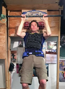 Hypergravity training with 75 pounds.